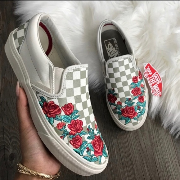 Vans Shoes | Floral Print Checkered